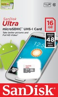 Карта памяти SanDisk MicroSD 16Gb