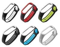 Ремешок силиконовый перфорированный на фитнес часы Xiaomi Mi Band 3 (цвет разный)