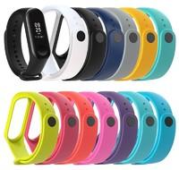 Ремешок силиконовый на фитнес часы Xiaomi Mi Band 3 (цвет разный)