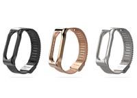 Ремешок на фитнес браслет Xiaomi Mi Band 3 металлический миланское плетение магнитный замок