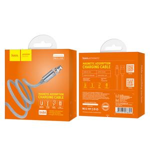 Магнитный кабель HOCO Cable USB to Micro-USB «U40A Magnetic» charging data sync, 1м