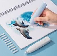 Электрический ластик для чертежа и рисования Xiaomi Youpin Deli (N.71073) с набором сменных насадок 50шт (N.71074)