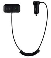 FM трансмиттер c автомобильной зарядкой Baseus T Typed S-16 Wireless MP3 Car Charger (CCTM-E01) 2xUSB